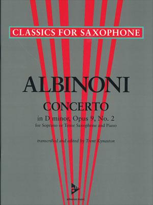 Albinoni Concerto In D minor, Opas 9, No. 2 - Soprano or Tenor Sax/Piano