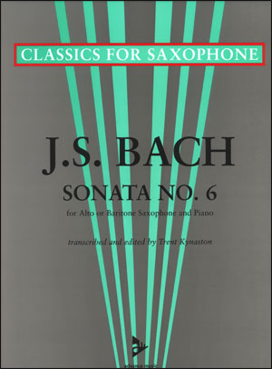 J. S. Bach - Sonata No. 6 -Alto And Baritone Sax/Piano