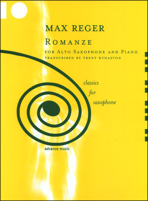 Max Reger - Romanze For Alto Saxophone/Piano