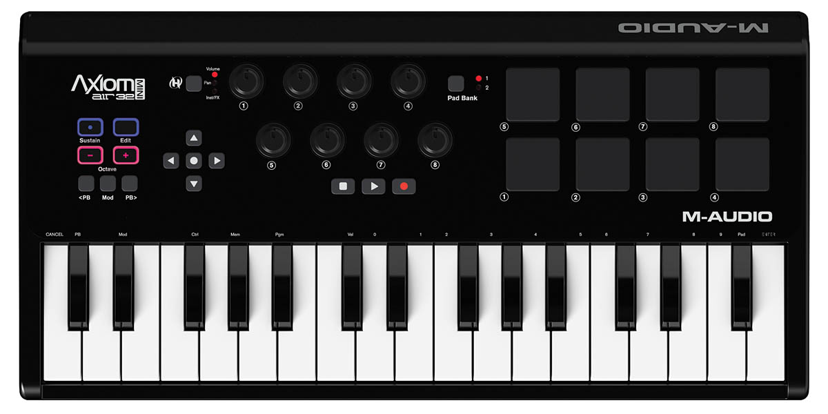 M-Audio Axiom AIR Mini 32-Channel MIDI Controller