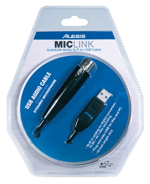 MicLink: AudioLink Series XLR-to-USB Cable