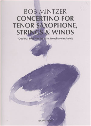 Concertino For Tenor Saxophone, Strings & Winds - SCORE ONLY