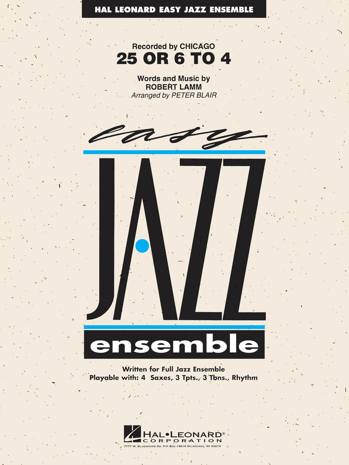 25 or 6 to 4: Easy Jazz Ensemble