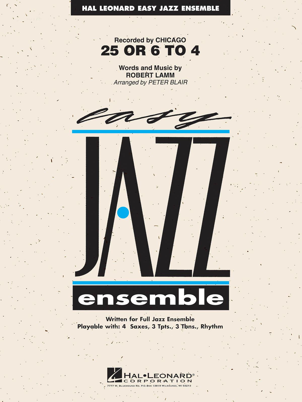 25 or 6 to 4: Easy Jazz Ensemble