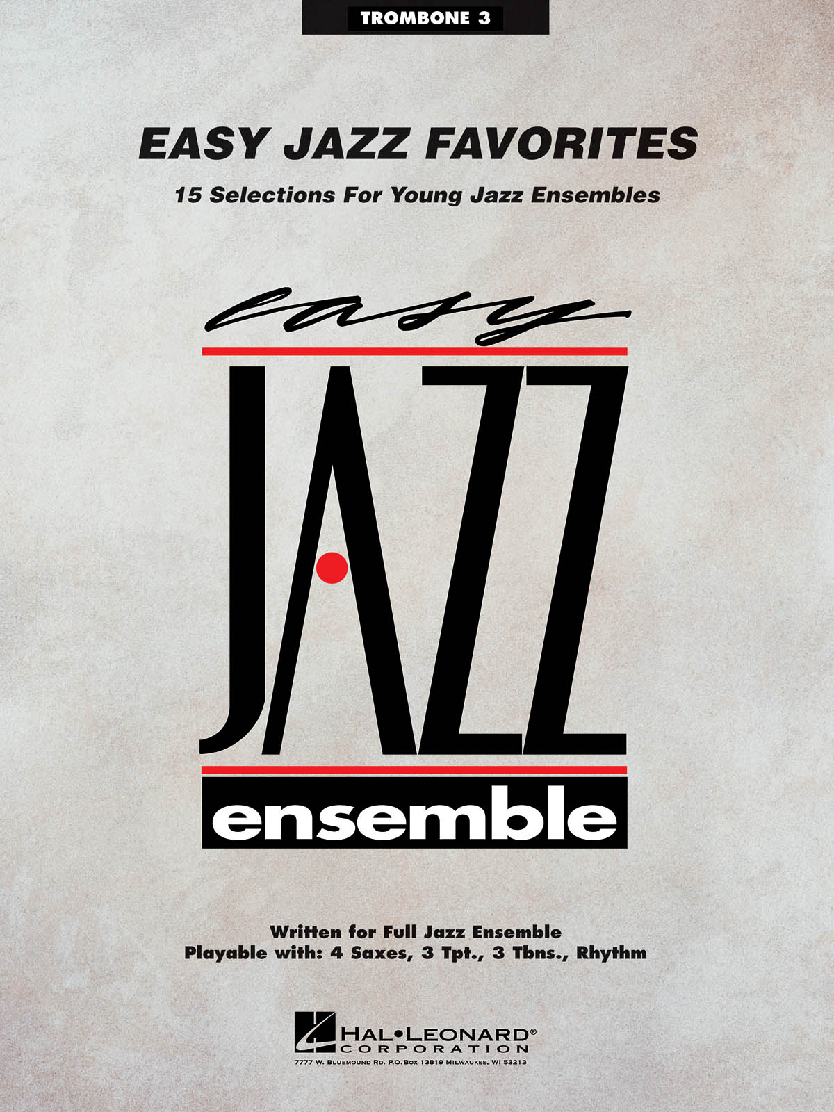 Easy Jazz Favorites-Trombone 3