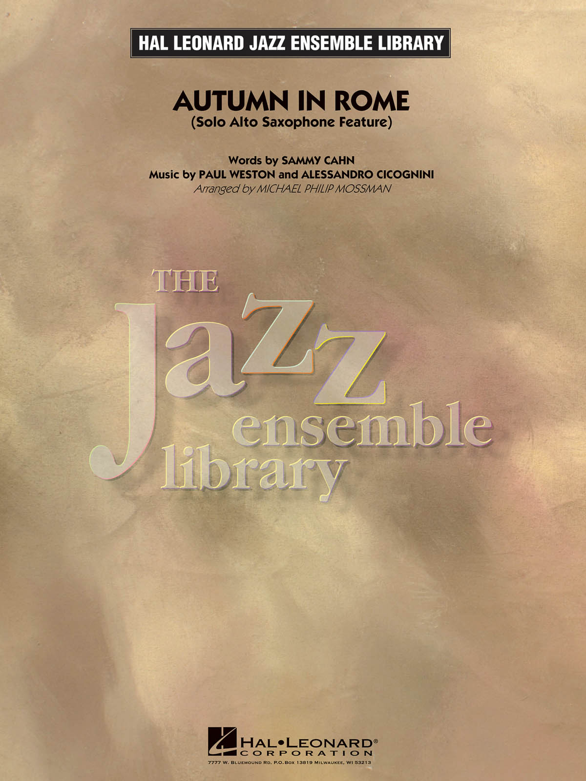 Autumn in Rome (Solo Alto Sax Feature): The Jazz Ensemble Library