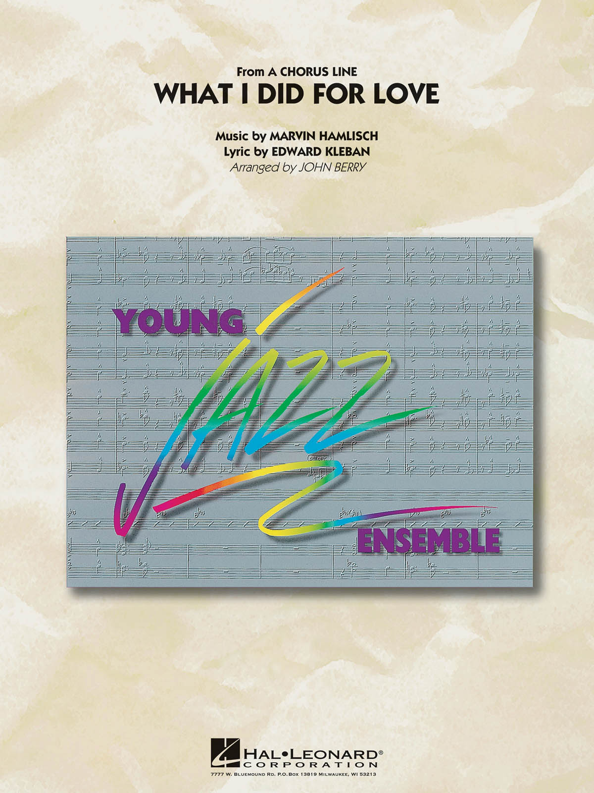 What I Did for Love: Young Jazz Ensemble