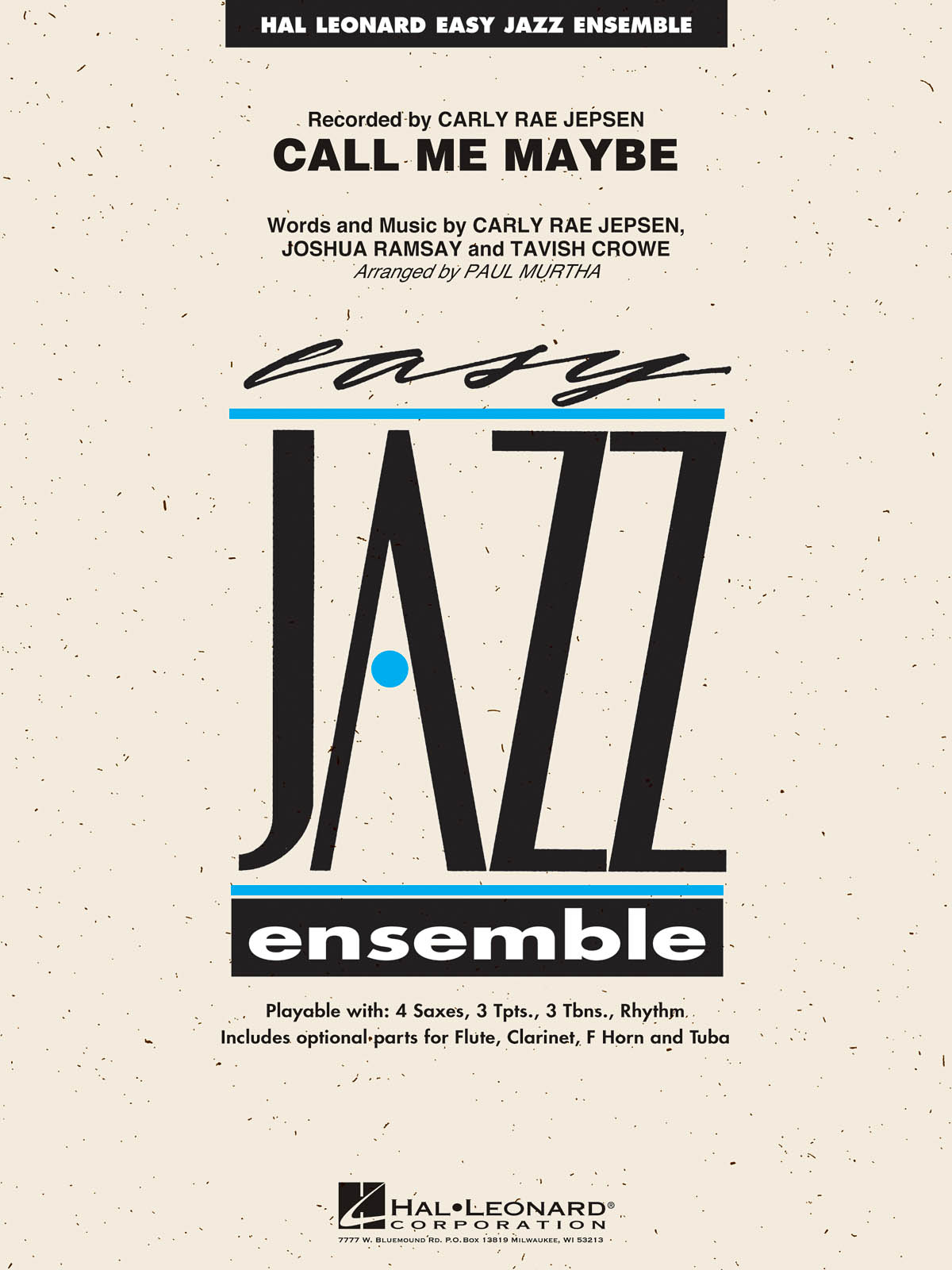 Call Me Maybe: Easy Jazz Ensemble