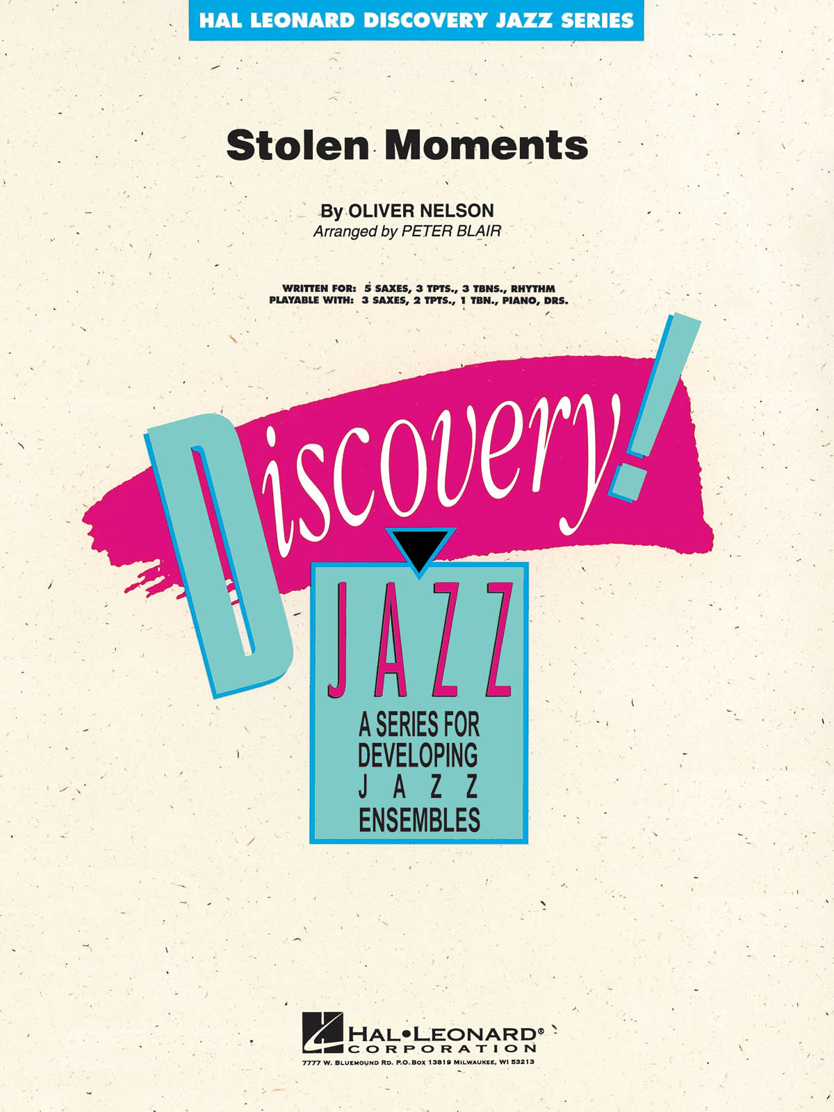 Stolen Moments: Discovery Jazz Big Band Chart