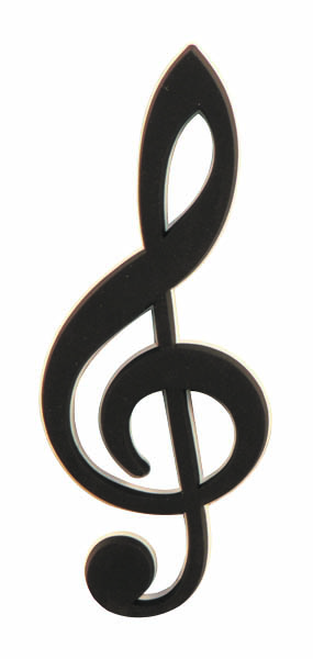 "Treble Clef Music Magnet (1"" x 3"")"