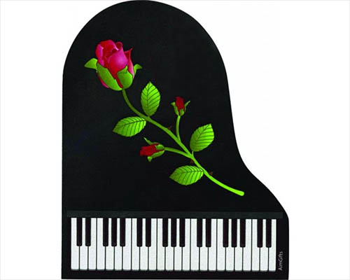 Mouse Pad Grand Piano Die Cut