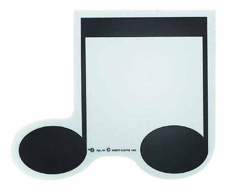 8th Note Shaped Sticky Pad