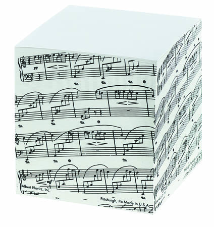 Sheetmusic Memo Cube