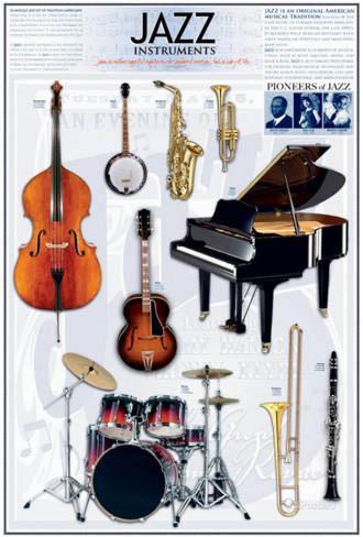 Jazz Instrument Poster