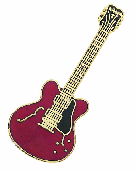 Red Guitar Pin