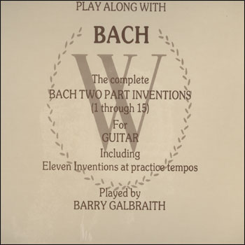Play Along With Bach - AUTOGRAPHED LP