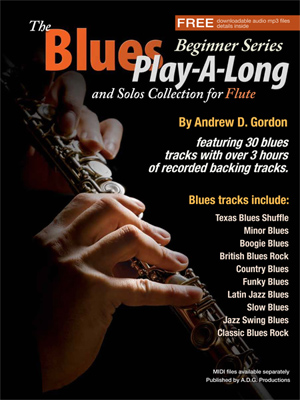The Blues Play-A-Long and Solos Collection for Flute - Beginner Series