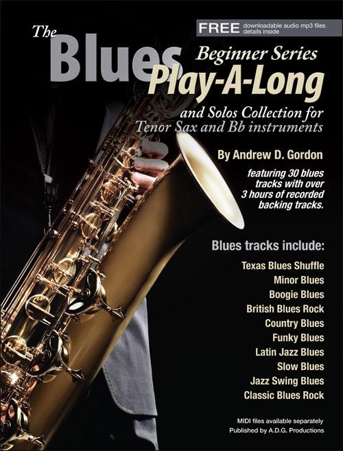 The Blues Play-A-Long and Solos Collection for Bb Tenor Sax - Beginner Series