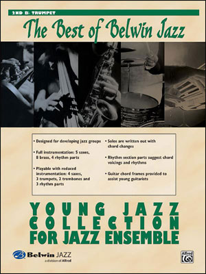 Best of Belwin Jazz: Young Jazz Collection for Jazz Ensemble - 2nd B-Flat Trumpet