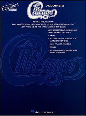 Chicago - Transcribed Scores Volume 2