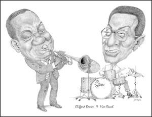 Clifford Brown & Max Roach Caricature