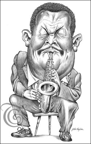 Cannonball Adderly Caricature
