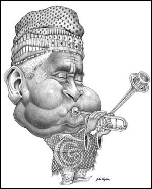 Dizzy Gillespie Caricature