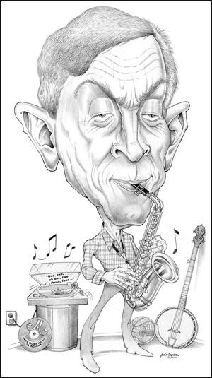 Jamey Aebersold Caricature