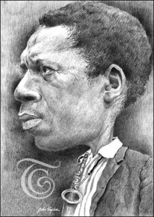 John Coltrane Caricature