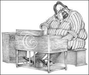 Joey DeFrancesco Caricature