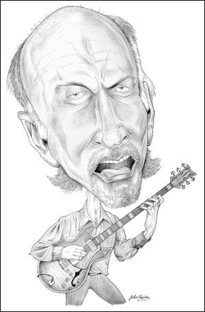 John Scofield Caricature