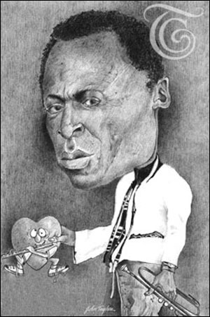 "Miles Davis ""My Funny Valentine"" - Caricature"