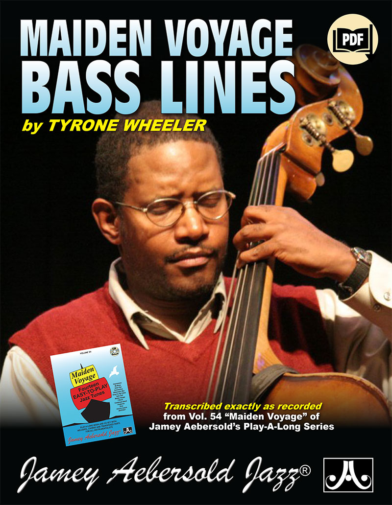 """Transcribed Bass Lines From Volume 54 """"Maiden Voyage"""" Play-A-Long"""