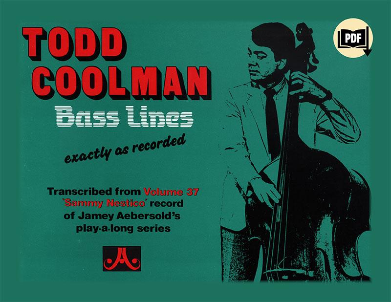 Volume 37 Sammy Nestico Bass Lines