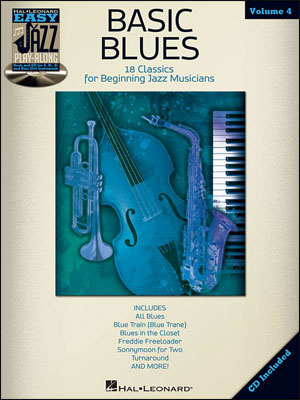 Easy Jazz Play-Along Vol. 4 - Basic Blues - Bk/CD