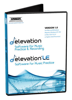 Elevation - Software for Music Practice and Recording - Windows/MAC compatible