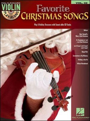Favorite Christmas Songs - Violin Play-Along Vol. 32 - Bk/CD