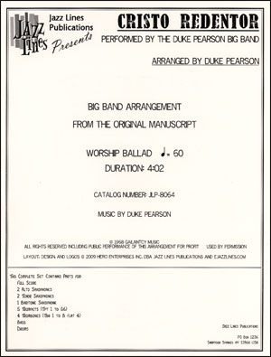 Cristo Redentor - Duke Pearson Big Band Arrangement