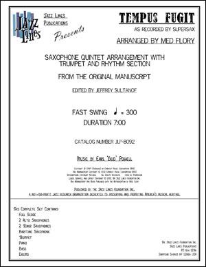 TEMPUS FUGIT - SAX QUINTET ARRANGEMENT WITH TRUMPET AND RHYTHM SECTION