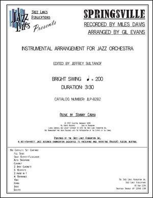 SPRINGSVILLE - JAZZ ORCHESTRA ARRANGEMENT