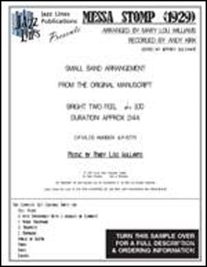 Messa Stomp (AKA Mess A Stomp) - 1929 Version - Big Band Arrangement