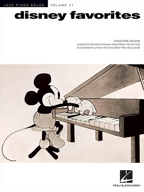 Jazz Piano Solos - Vol. 51 Disney Favorites
