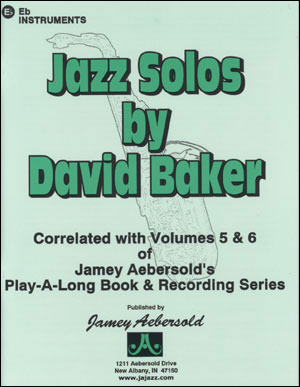 Jazz Alto Sax Solos/Etudes - By David Baker