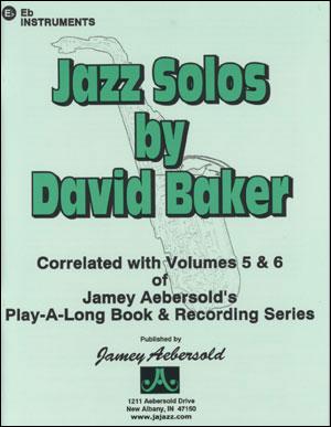 Jazz Alto Sax Solos/Etudes - By David Baker