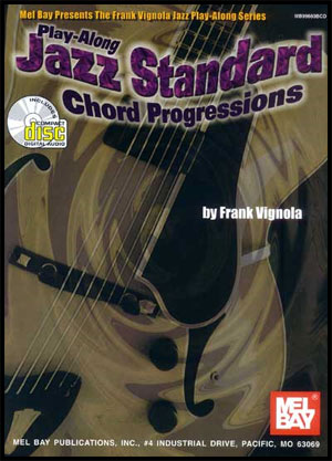 Play-Along Jazz Standard Chord Progressions Book/Download tracks