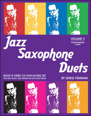 Jazz Saxophone Duets Volume 3 - Bk/3 CDs