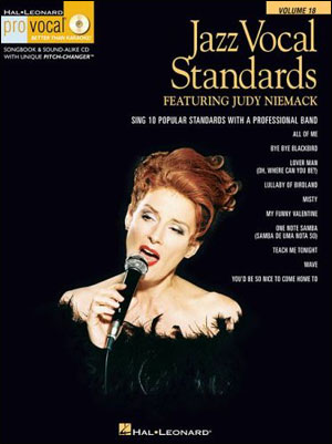 Jazz Vocal Standards Featuring Judy Niemack - Pro Vocal Vol. 18