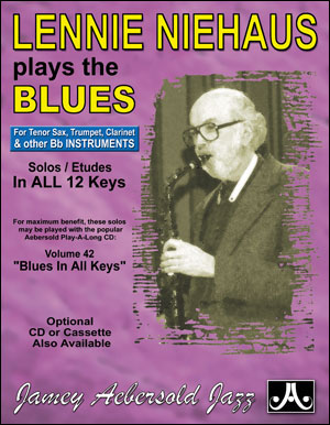 Lennie Niehaus Plays The Blues - B Flat - BOOK ONLY