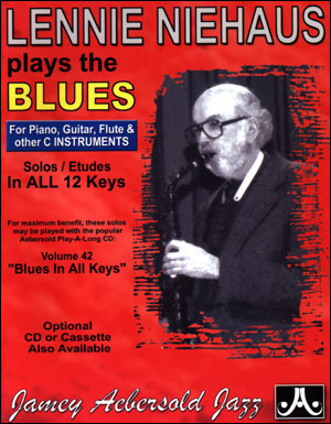 Lennie Niehaus Plays The Blues - C Instruments - BOOK ONLY