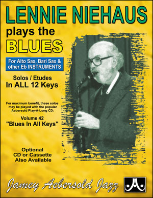 Lennie Niehaus Plays The Blues - E Flat - BOOK ONLY